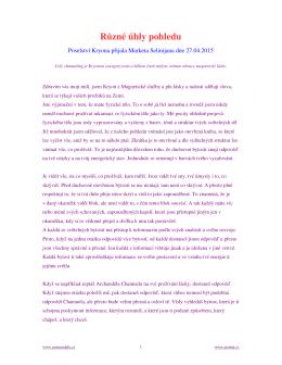 Kryon channeling : duben 2015