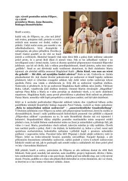 150. výročí poutního místa Filipov, 13.1.2016 promluva Mons. Jana