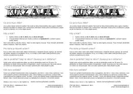 Co je to Kurz Alfa? - Českobratrská církev evangelická sbor Brno I.