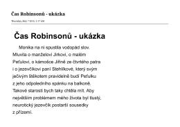 Čas Robinsonů