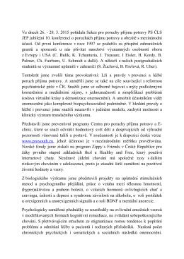 Zpráva z X. Mezinárodní interdisciplinární konference o poruchách
