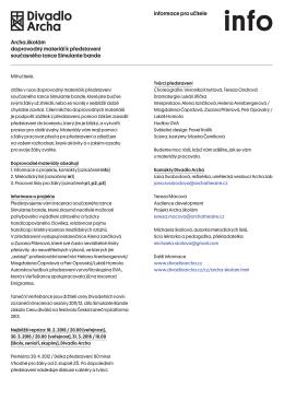 Pracovní listy SIMULANTE BANDE ke stažení ()