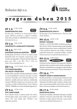 program duben 2015