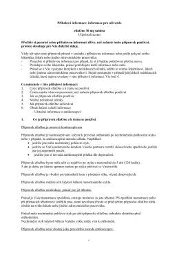 příbalovém letáku - ellaOne® Pregnancy Registry