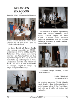 drama v synagóze - DOcela MAlé divadlo