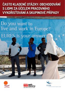 často kladené otázky: obchodování s lidmi za účelem pracovního