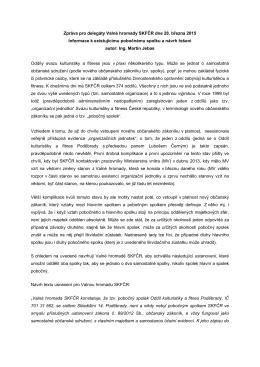 zpráva pro VH - Svaz kulturistiky a fitness ČR