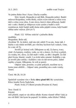 31.5. kázání L. Ridzoňové Boží srdce a Trojice Oz 11
