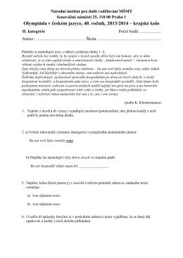 KK-OČJ-SŠ - DDM Č. Budějovice