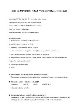 11.3.2015 - základní škola Praha – Kolovraty