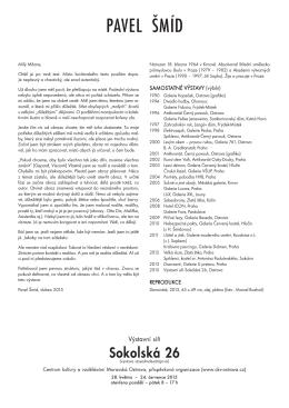 Katalogový list k výstavě Pavel Šmíd