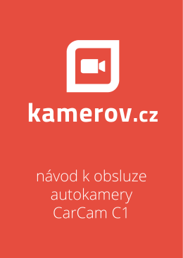 CarCam C1 - návod