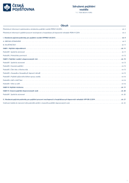 Pojistné podmínky - Česká pojišťovna