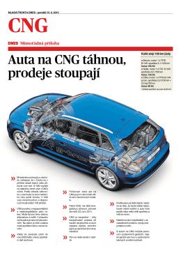 Auta na CNG táhnou, prodeje stoupají