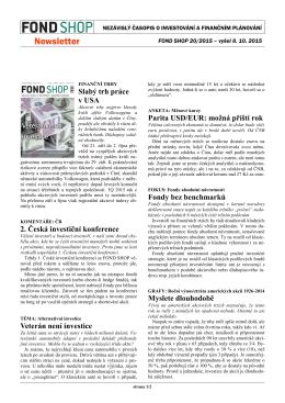Newsletter FOND SHOP 20-2015