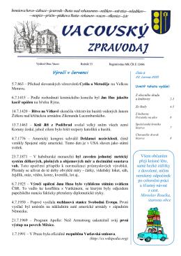 Vacovský zpravodaj č. 6/2015