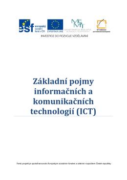 01 Základní pojmy informačních a komunikačních technologií (ICT)