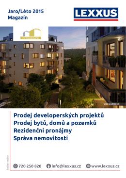 Prodej developerských projektů Prodej bytů, domů