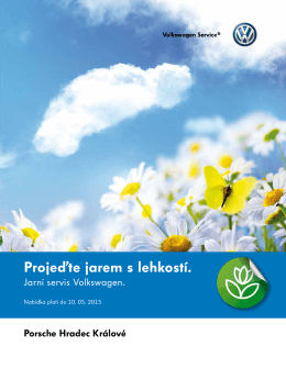 Jarní servis VOLKSWAGEN