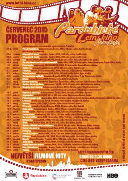 Program Letního kina na měsíc červenec 2015
