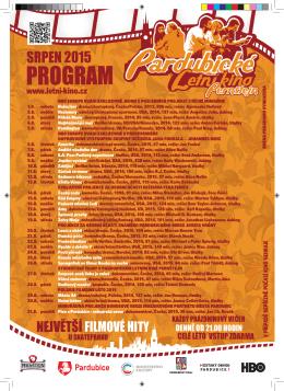 Program Letního kina na měsíc srpen 2015