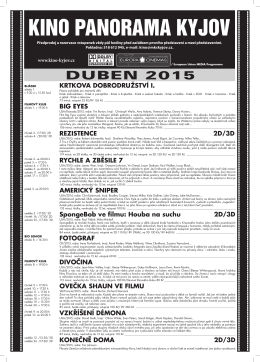 duben 2015 - Kino Panorama