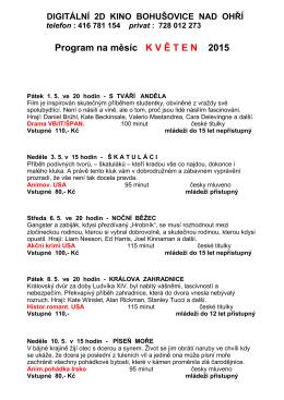 Program na měsíc KV Ě TEN 2015 - Základní škola Bohušovice nad