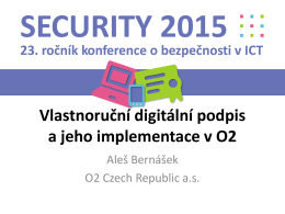 Titulek prezentace - Konference Security 2016