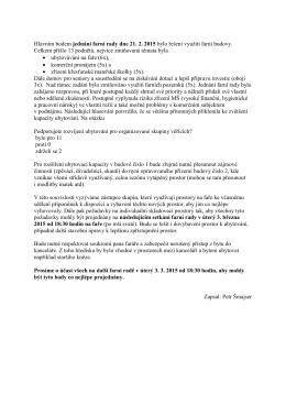 Hlavním bodem jednání farní rady dne 21. 2. 2015 bylo řešení