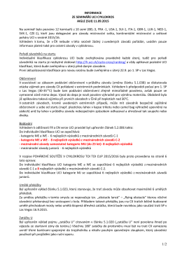 Informace ze semináře UCI cyklokros 11.09.2015