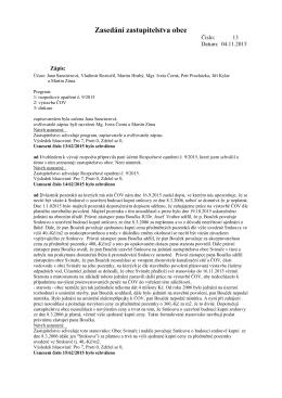 Zasedání zastupitelstva č. 13 ze dne 4.11.2015