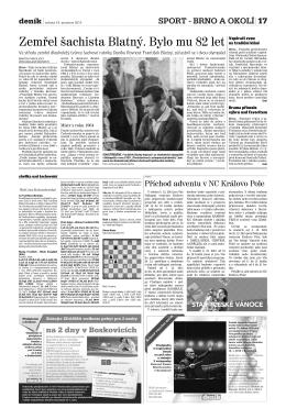 Zemřel šachista Blatný. Bylo mu 82 let
