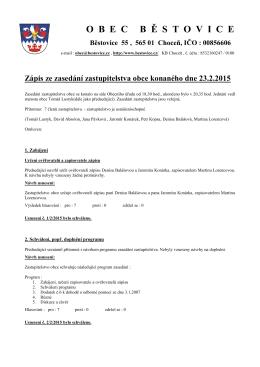 Zápis z jednání zastupitelstva 23.2.2015