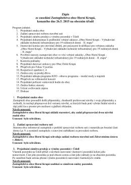 zapis-květen_2015 - Obecní úřad Horní Krupá