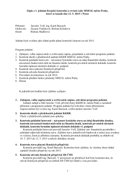 Zápis - MSH Praha