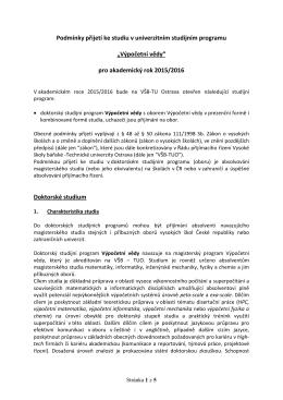dokumentu - Výpočetní vědy