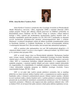 RNDr. Alena Hyršlová Vaculová, Ph.D. Alena Hyršlová Vaculová