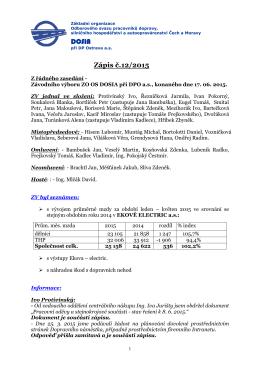 Zápis č. 12 ze dne 17.06. 2015
