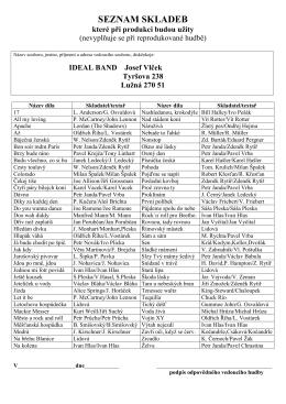 Pořad skladeb 2006
