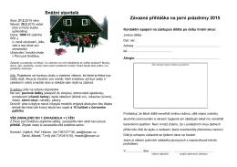 Sněžní stavitelé Závazná přihláška na jarní prázdniny 2015