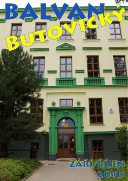 ZÁŘÍ/ŘÍJEN 2015 - Základní škola Studénka