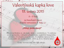 Valentýnská kapka krve 2015