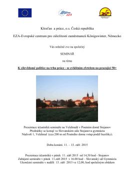 Pozvánka s programem a dalšími informacemi ()