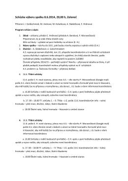 Zápis – výbor Spolku 8.6.2014