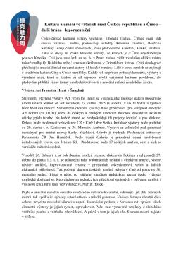 Kultura a umění ve vztazích mezi Českou republikou a Čínou – další