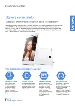 Stylový selfie telefon