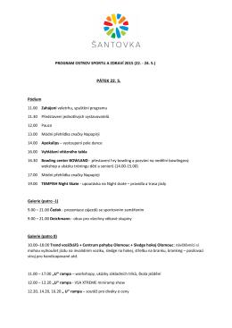 Program akce OSTROV SPORTU A ZDRAVÍ 2015 ke stažení