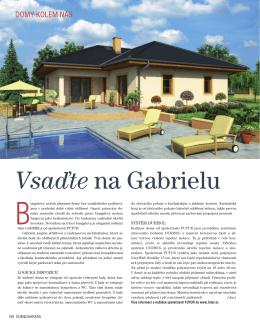 Rodinný dům Gabriela - Vsaďte na Gabrielu