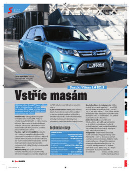 Vstříc masám - Suzuki Vitara 1.6 DDiS (Sport magazín 27. 3. 2015)