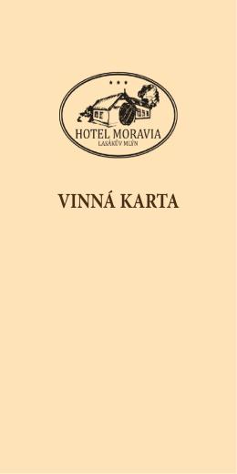 VINNÁ KARTA - Hotel Moravia
